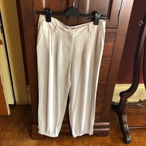Eileen Fisher 100% silk trousers.